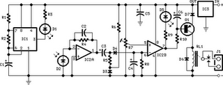 Infra-Red Level Detector Circuit Diagram