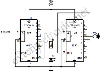 Isolated 1-Hz Clock Circuit Diagram