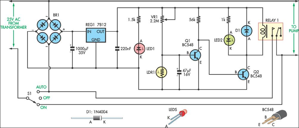 motion sensor light switch wiring diagram how credit card processing works light-controlled pond pump circuit