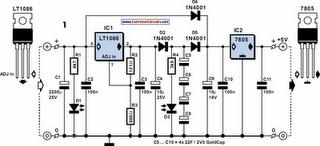 5V Power Supply For On-Train Radio Camera Circuit Diagram