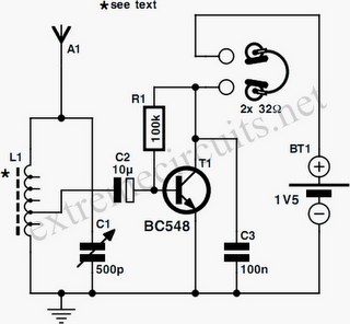 One Transistor Radio Circuit Diagram