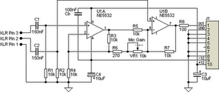 Ultra-Simple Microphone Preamplifier Circuit Diagram