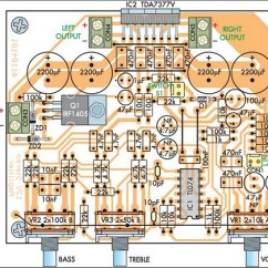 Audio Amplifier Circuit Diagram With Layout Lamp Holder Wiring Compact High Performance 12v 20w Stereo Pcb Of Schematic