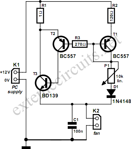 Processor Fan Control Circuit Diagram