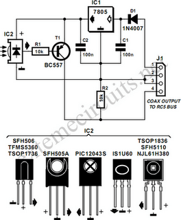 RC5 Repeater Circuit Diagram