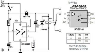 Reducing Relay Power Consumption Circuit Diagram