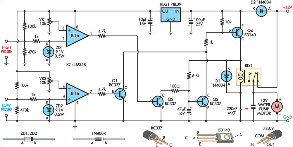 reservoir pump controller circuit diagram 2 12v propane heater wiring diagram 12 volt heater \u2022 indy500 co Control Relay Wiring Diagram at gsmx.co