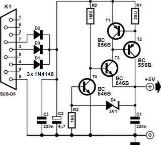 RS232 Voltage Regulator Circuit Diagram