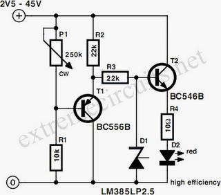Simple Voltmeter Circuit Diagram