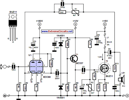 grounding mode for tube amps circuit electronic circuits 8085