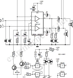 5 3w amplifier with surround system circuit diagram rh learningelectronics net sony surround sound wiring diagram wiring a surround sound system [ 908 x 1154 Pixel ]