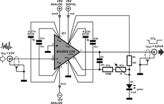 Spike Detector For Oscilloscopes Circuit Diagram