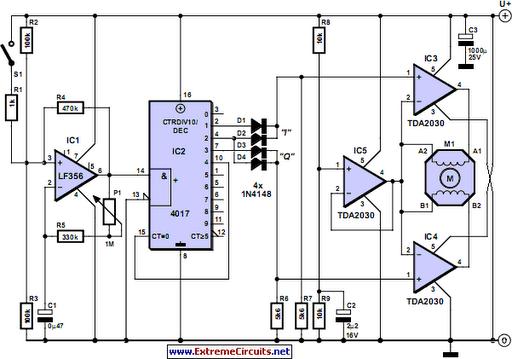 stepper motor controller circuit diagram