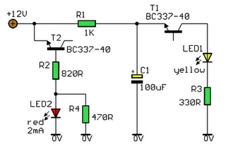 Supply Voltage Indicator Circuit Diagram