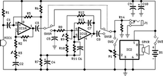 Telephone call Voice Changer Circuit Diagram