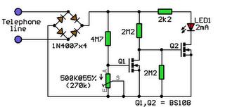 Telephone In-Use Indicator Circuit Diagram