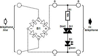 Telephone Free Indicator Circuit Diagram