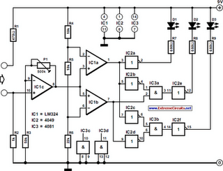 Three-State Continuity Tester Circuit Diagram