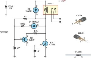 Handy Time Delay With Relay Output Circuit Diagram