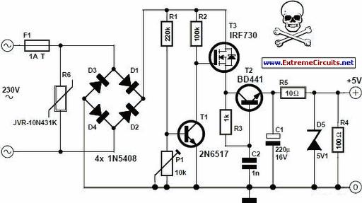 5 volt regulator circuit