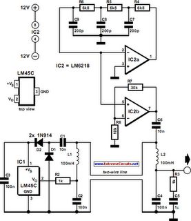 Two-Wire Temperature Sensor Circuit Diagram