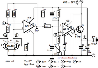 Ultra Low-Power 5V Regulator Circuit Diagram