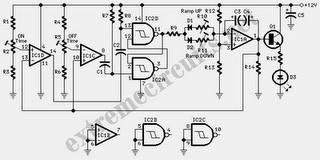 Fine Control Super Bright LED Pulser Circuit Diagram