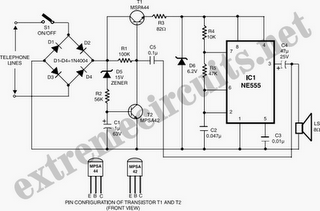 Watch-Dog For Telephones Circuit Diagram