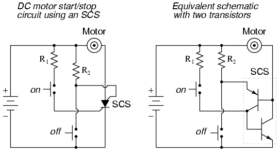 The Silicon-Controlled Switch (SCS) : THYRISTORS
