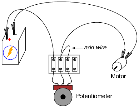 Potentiometer as a rheostat : DC CIRCUITS