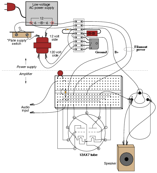 Vacuum tube audio amplifier : DISCRETE SEMICONDUCTOR CIRCUITS