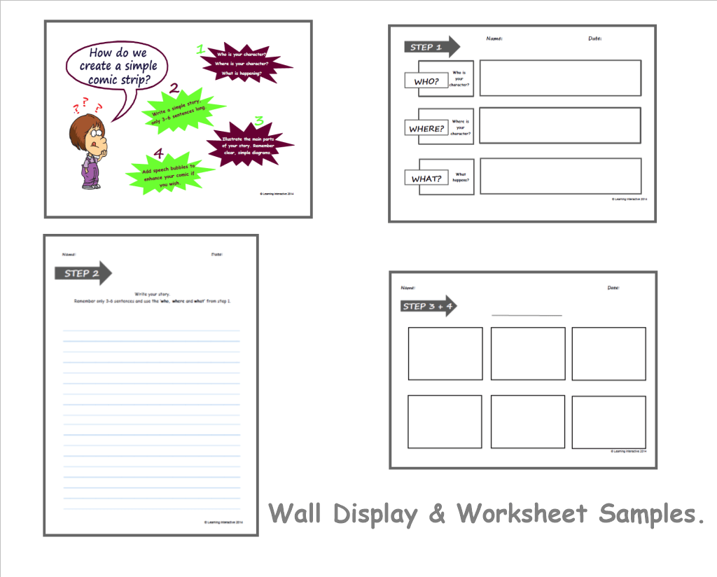 Visual Literacy Comic Strips Writing Year 3 Amp 4