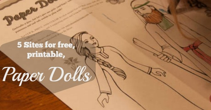 5 great sources for free, printable paper dolls!