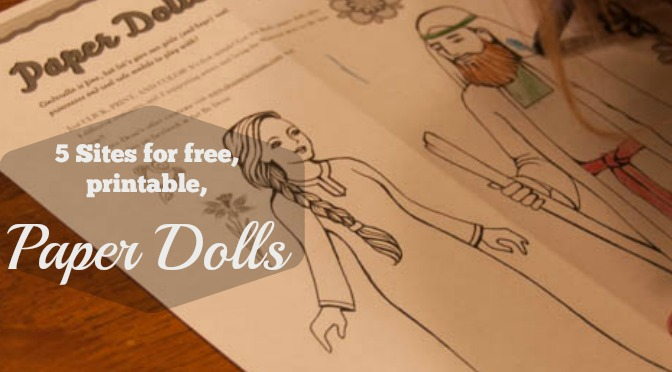 Five Free, Printable Paper Dolls {AND DAYSPRING GIVEAWAY!}