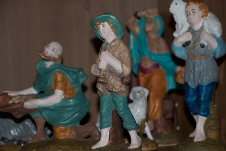 Gran's hand painted Nativity Set - an important Christmas tradition