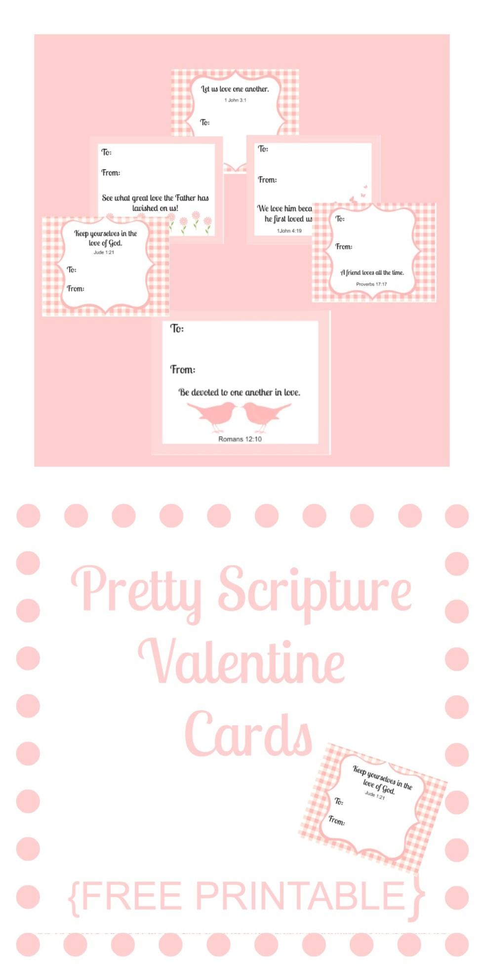 Pretty Scripture Valentine Cards {FREE PRINTABLE}
