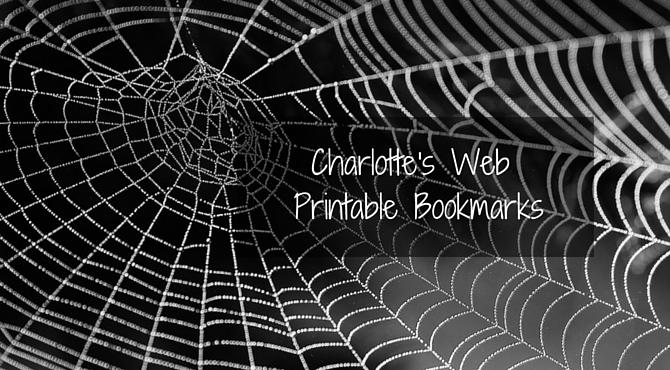 Charlotte's Web Printable Bookmarks