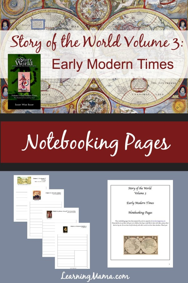 Printable Story of the World Volume 3 Notebooking Pages.