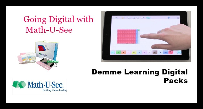 Going Digital with Math-U-See {Demme Digital Packs Review}