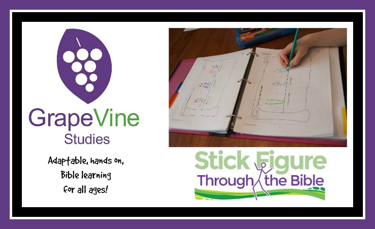 Stick Figuring Your Way Through The Bible! {Grapevine Bible Studies Review}
