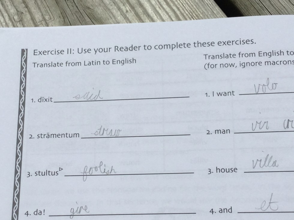Olim, Once Upon a Time...in Latin Workbook {Laurelwood Books Review}