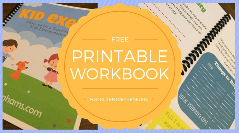Help your kids become entrepreneurs this summer - free Kids Exec e-book!