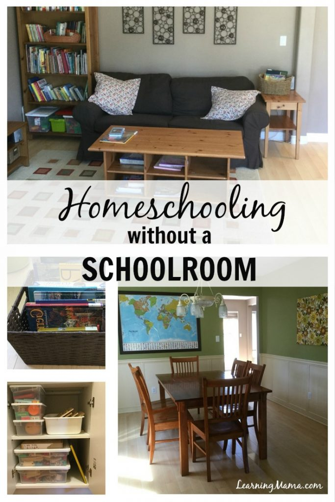 Homeschooling Without a Schoolroom -- how do we keep our house looking like home if we don't have a designated homeschool room?