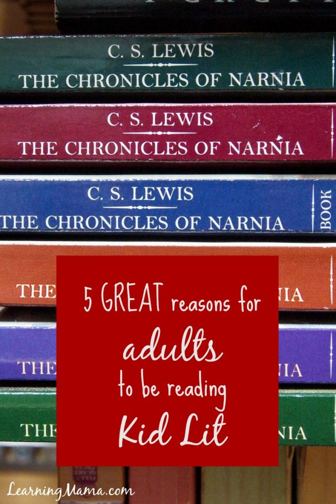 5 Great Reasons Adults Should Be Reading Kid Lit - Why I'm spending so much time reading books from the Juvenile Fiction collection at my library - www.learningmama.com