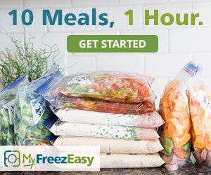 Freezer meals for busy homeschool families - MyFreezEasy is was a total game changer for me! Check out how freezer cooking can help you provide healthy, homemade, and affordable meals to your family even on the busiest of days