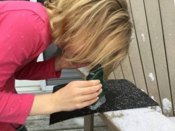 A Day in the Life of a Homeschooler - impromptu learning when the snow falls and the kids decide to check out the flakes under a microscope!