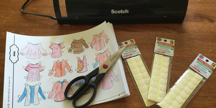 Super durable paper dolls -- a tutorial using velcro & a laminator