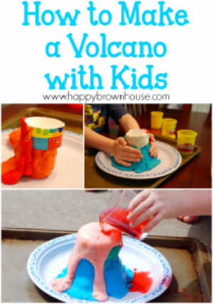 99 Things to do outside with your kids this summer: Make a volcano