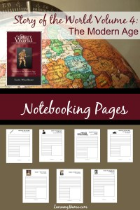Free, printable, Story of the World Volume 4 Notebooking Pages.