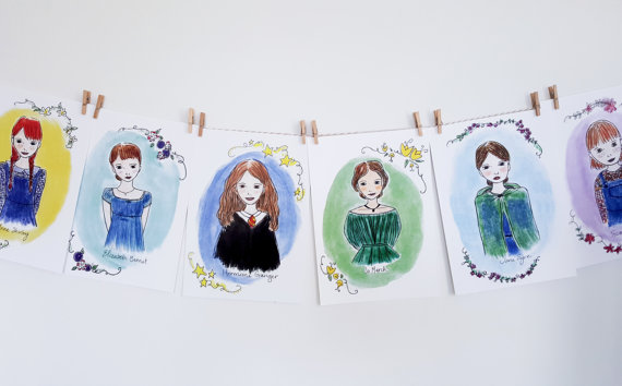 Literary Heroines Prints make great gifts for your bookish friends!